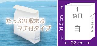 マチ付きタイプ・特大 22cm×31.5cm×厚さ(マチ)6cm