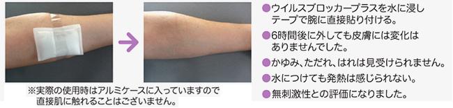 皮膚への刺激性(皮膚一次刺激性試験)