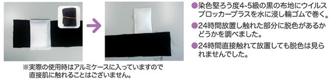 放散成分による繊維製品への影響(退色性確認実験)